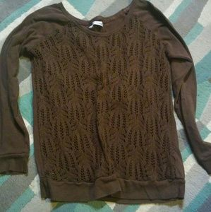 Maurices size 0 brown sweater